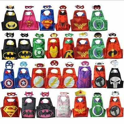 Superhero Cape (1 cape+1 mask) for kids birthday party favors and ideas - Superhero Party Ideas