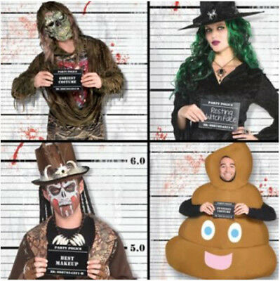 POLICE LINEUP Scene Setter HALLOWEEN party kit w/12 photo booth - Halloween Photobooth