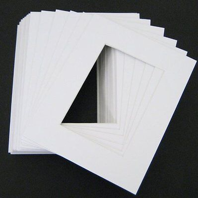 Set of 10 16x20 WHITE photo mats with White Core Bevel Cut for 11x14 ](Photo Mat)