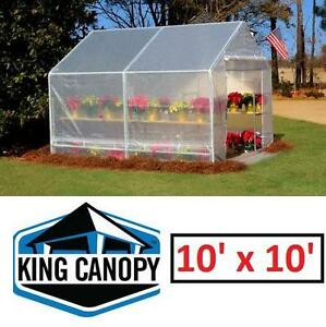 NEW* KING CANOPY GREENHOUSE 10'X10' - 118619670 - FULLY ENCLOSED CLEAR