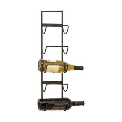 Metal Wine Bottle Storage Rack, Hanging Holder Wall Mount 5 Bottles Display