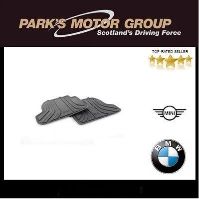 BMW Genuine All Weather Rubber Rear Car Floor Mats Set Black F21 51472297420