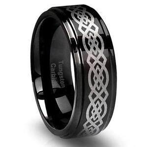TUNGSTEN CARBIDE STAINLESS STEEL TITANIUM STERLING SILVER RINGS+