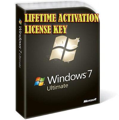 WINDOWS 7 ULTIMATE SP1 DIGITAL LICENSE KEY LIFETIME ACTIVATION 32I64 BITS