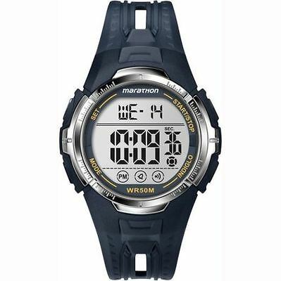 Timex T5K804, Men's Marathon Blue Resin Watch, Indiglo, Alarm, Stopwatch