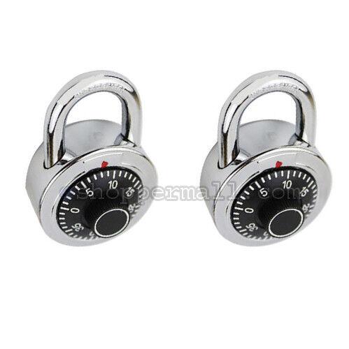 1 to 6 Combination Lock Dial Padlock Hardened 50mm Steel Gym Locker Bike School