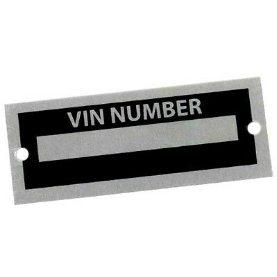Used, Body Tag Plate Model Number Hot Rod Rat Street Kit Car Salvage Race Old Junk Vin for sale  Prospect