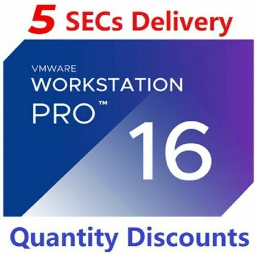 VmWare Workstation 16 PRO /Lifetime Activation /Genuine License / 5 Secs Dlivery