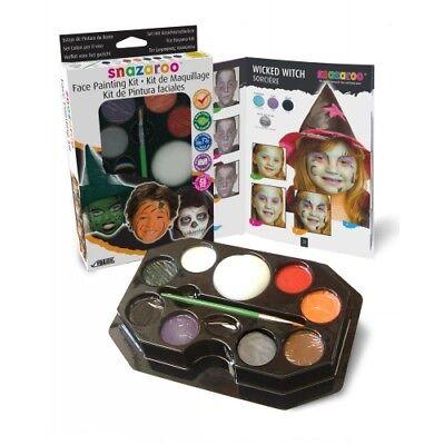 Hexe Gesichter Für Halloween (Halloween Hexe Gesicht Schminke Set Für Erwachsene & Kinder Verkleidung Make-up)