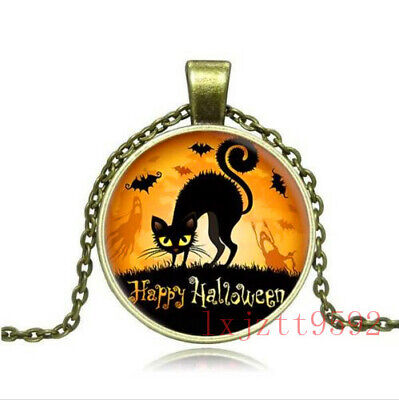Vintage Halloween Old Fashioned Antique Style Glass Photo Necklaces & Pendants - Old Fashioned Halloween Photos