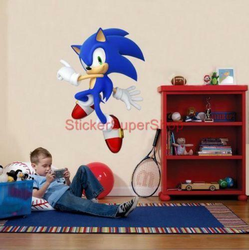 sonic wall stickers ebay sonic hedgehog 8 characters set decal removable wall