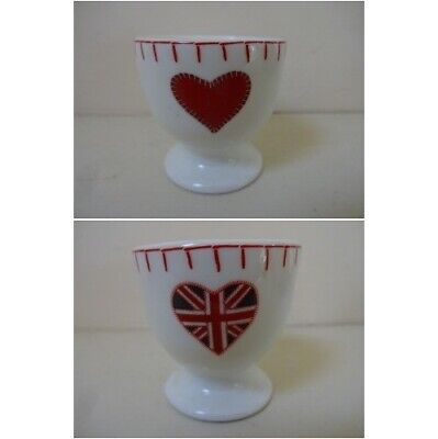 Jan Constantine egg cup red heart or union jack