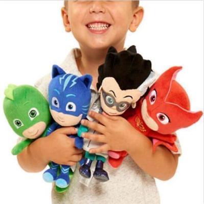 4pcs/set PJ Masks Figuren Hauptquartier Plüsch Catboy Gecko Eulette Spielzeug 8