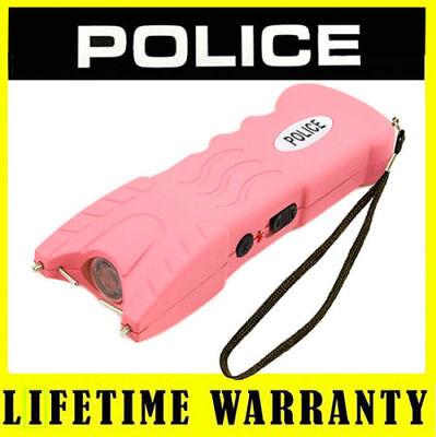 Stun Gun Police 916 Pink 78 Bv Rechargeable Led Flashlight Taser Case
