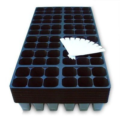 Seed Starter Trays, 1440 Cells: (240 Trays) Plus 10 Plant Labels, (Planting Tray)