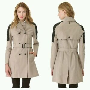 Mackage Lilith Trench Coat w/ leather sz XXS Retails for $668 Edmonton Edmonton Area image 1