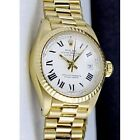 Rolex Datejust Women's Solid Gold Band Wristwatches
