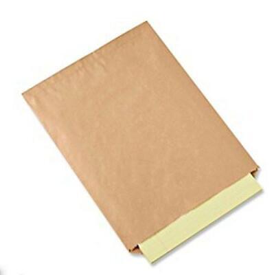 100 Pack Brown Kraft Paper Bags Flat Merchandise Bags Shopping Sales Tote Bags