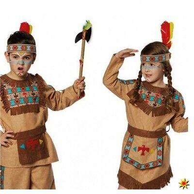 Stirnband Indianer für Kinder türkis-braun Indianerkostüm - Kostüm Für Indianer