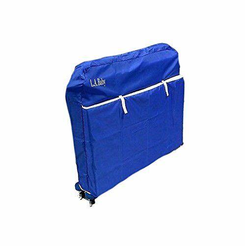 LA Baby Blue Nylon Crib Cover for Mini/Portable Crib