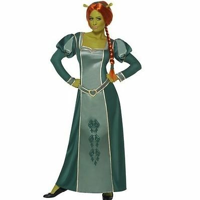 Ladies Licensed Fiona from Shrek Fancy Dress Costume Outfit by Smiffys - Fiona Outfit