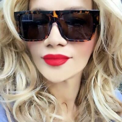 Super DARK Lens Flat ZZ Top Square Aviator Designer Fashion Women Big (Dark Sunglasses Zz Top)