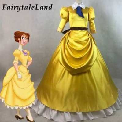 Tarzan & Jane Cosplay Costume Halloween costumes adult Yellow Dress// - Tarzan Halloween