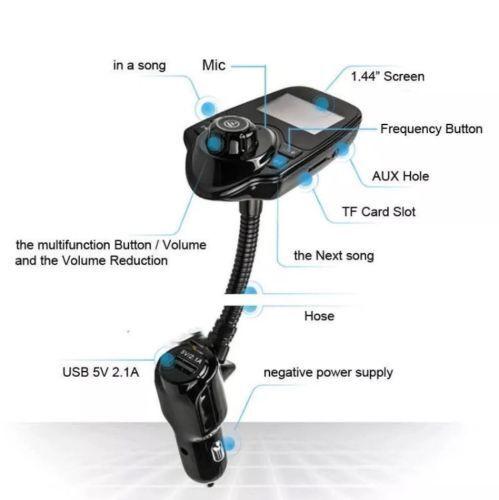 T10 Car Kit Handsfree Wireless Bluetooth FM Transmitter mp3 player USB LCD Consumer Electronics