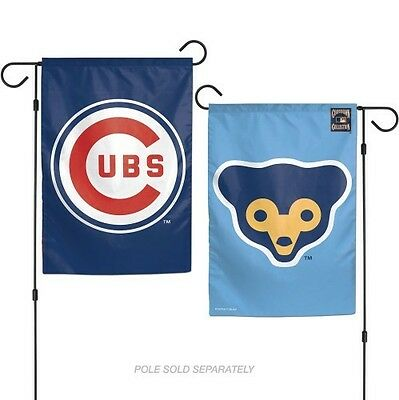 - CHICAGO CUBS COOPERSTOWN COLLECTION 2 SIDED GARDEN FLAG 12