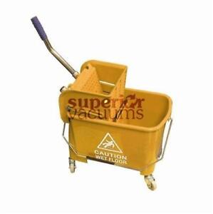 Janitorial Supplies Bucket, 21L With Side Press Wringer Yellow