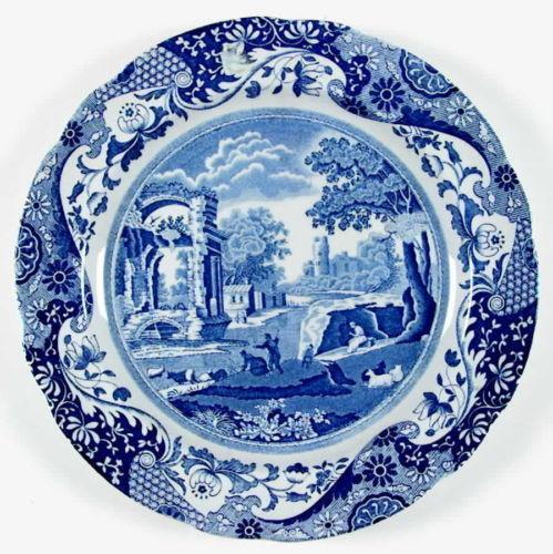 spode blue italian dinner plates