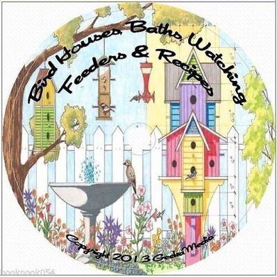 Build Birdhouse Baths Feeders CD Watching Recipes Houses Bird Identify Plan 250+