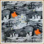Black and White Cat Fabric