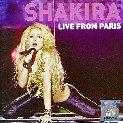 Shakira   Live From Paris  Cd   Dvd Edition  New Cd  Holland   Import  Ntsc Regi