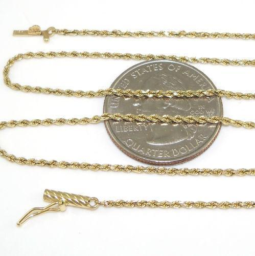 14k Solid Gold Rope Chain Ebay