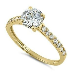 14k Solid Yellow Gold Ring Size 6 BRAND NEW