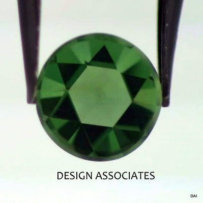APATITE 5 MM ROUND ROSE CUT ALL NATURAL CHROME GREEN COLOR