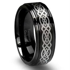 TUNGSTEN CARBIDE RINGS STAINLESS STEEL STERLING SILVER+MORE