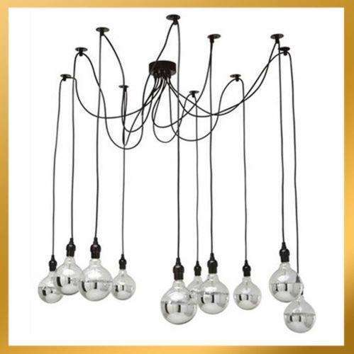 Edison Bulb Chandelier Ebay
