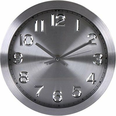 Wall Clock Large Decorative Dark Universal Non-Ticking 12-inches Wall Clock