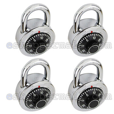 4 Pack 3 Digit Dial Combination Padlock Keyless Anti-theft Security Lock 50mm
