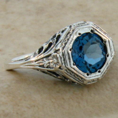 antique blue topaz ring ebay
