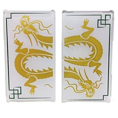 LEGO panel glass for Window 1 x 4 x 6 with gold Dragon Head Frosted Ninjago pane