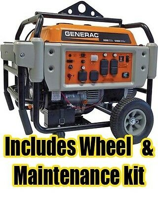9 Gallon Portable Generator - 8,125 Watts - Electric Start - 410cc - OHV Engine