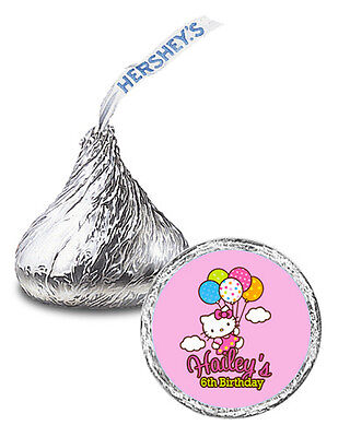 108 Hello Kitty Balloon Dreams Birthday Party Personalized Kisses Labels