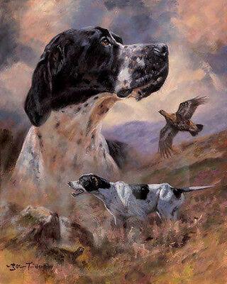 "POINTER ENGLISH DOG FINE ART LIMITED EDITION PRINT ""Moorland Days"" John Trickett"