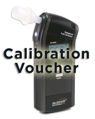 Calibration Voucher for Bactrack S80, DA8000 Fuel Cell Breathalyzer