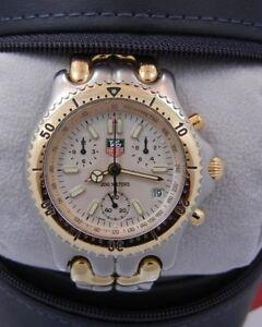 Tag Heuer Chronograph 2-Tone Watch Model CG1120-0 Sport