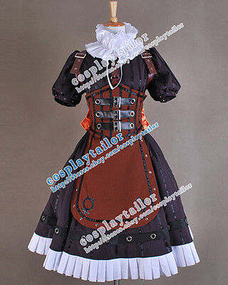 Alice Madness Returns Halloween Costume (Alice Madness Returns Steam Dark Brown Dress Sweet Halloween Cosplay)