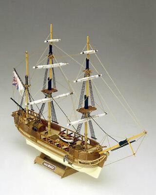 "Classic, Mini Wooden Model Ship Kit by Mamoli: the ""HMS Beagle"""